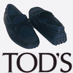 Tod's Men's Blue Leather Gommino Loafer 5.5